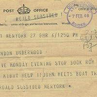 Het leven van Roald Dahl - 1941 - Groot-Brittanië